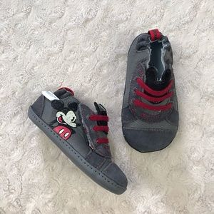 Robeez Mickey Mouse Shoes Size 3 Gray